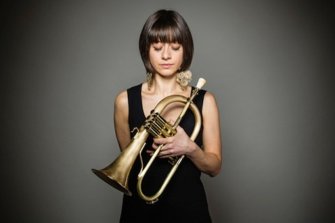 Yazz Ahmed with fluegelhorn
