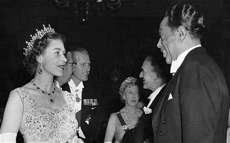Duke Ellington meets HM Queen Elizabeth